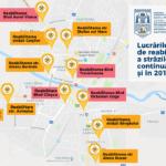 Harta străzilor care vor fi reabilitate în 2019