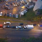 Accident in lant. Cinci masini avariate (Foto)