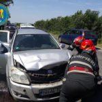 Accident în lanț. Cinci persoane implicate (Foto)