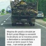 Inconstienta totala ! Cum circula o camioneta pe drumurile din Satu Mare (Foto)