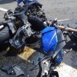 Motociclist rănit într-un accident