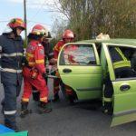 Accident pe Lucian Blaga. O persoană încarcerată (Foto)