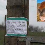 """""""Calurile"""" de pe teren îl enerveaza ! A lipit un avertisment pe stalp ! (Foto)"""