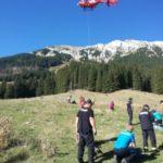 Cumplit ! Elicopter prăbușit în munți. Opt victime ! (Foto)