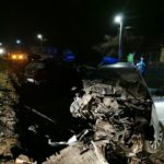 Accident grav cu doua masini implicate BMW făcut praf ! (Foto)