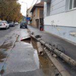 A facut vraiste cu BMW-ul pe o strada din Oradea (Foto)
