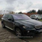 BMW X5 furat din Germania, oprit în trafic