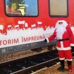 Trenul lui Moș Crăciun își așteapta calatorii