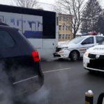 Masina a Politiei, implicata intr-un accident (Foto)