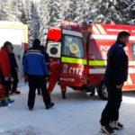 Schior accidentat grav. A fost preluat de o ambulanța SMURD (Foto)
