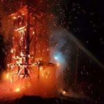 Clopotnita unei biserici, incendiata. A ars în totalitate (Foto)