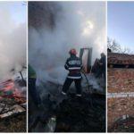 Incendiu. Anexa și casa cuprinse de flăcări (Foto)