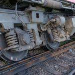 Un tren a deraiat. 40 de călători în vagoane