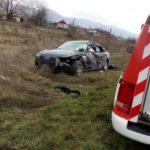 Accident grav. Mașina lovita de TIR (Foto)