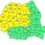 Cod galben de vânt și instabilitate atmosferica, luni, în toată Transilvania
