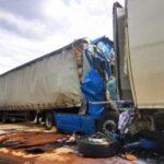 Accident pe o autostrada din Germania. Șofer de TIR din Romania, în stare critica (Foto)