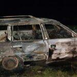 Mașina distrusa de foc (Foto)