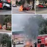 La un pas de dezastru ! Incendiu la benzinarie ! (Foto)