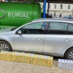 1.500 de pachete cu țigări descoperite într-o masina