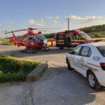 Copil lovit de o mașina. A fost solicitat elicopterul SMURD (Foto)