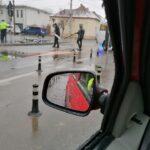 Accident in sensul giratoriu