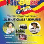 Concert on-line de 1 Decembrie