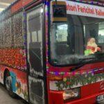 Autobuzul lui Moș Crăciun este pregătit