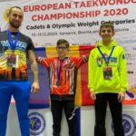 Vicecampion european la cadeti