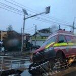 Ambulanța SMURD implicata într-un accident