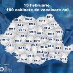 Harta cabinetelor de vaccinare cu Astra Zeneca