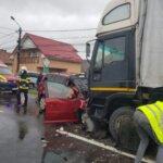 Circulație blocată în Corunca !