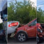 O victima si trei masini distruse