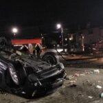 A distrus o mașina și o spalatorie auto