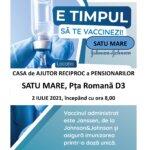 Un nou maraton de vaccinare la Satu Mare